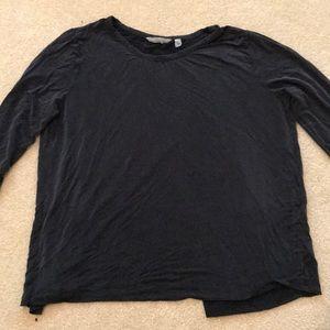 Black athleta crisscross back top